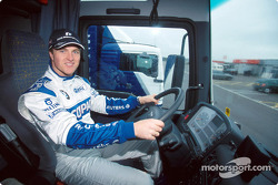 Ralf Schumacher driving the BMW WilliamsF1 truck