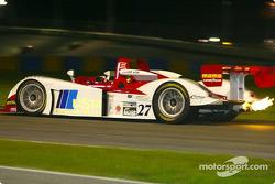 The #27 Judd Dallara continued to run strong as night fell