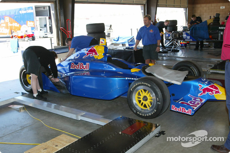 Red Bull Cheever Racing garage area