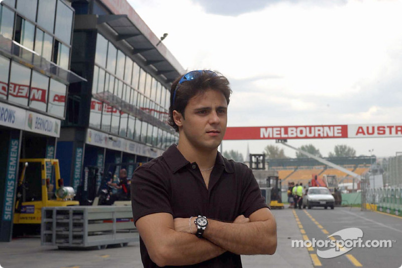 Felipe Massa in pitlane of Melbourne's Albert Park circuit