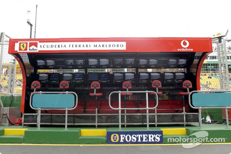 Team Ferrari pitwall