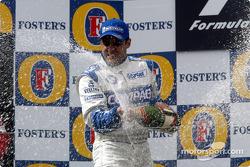 Champagne for Juan Pablo Montoya