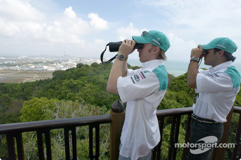 Visit at Petronas integrated petrochemical Complex in the town of Kerteh: Nick Heidfeld and Felipe Massa