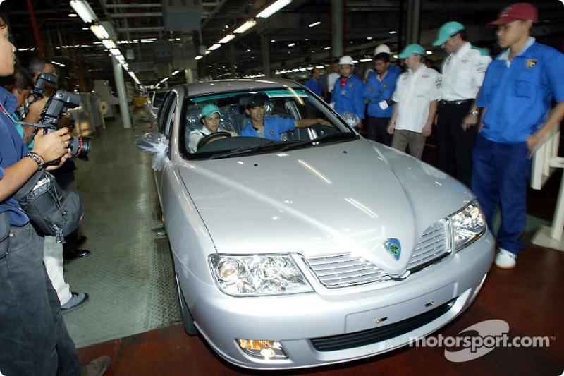 Visit at Proton car factory in Shah Alam: Felipe Massa