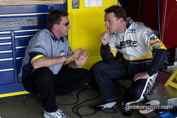 Dave Blaney y el jefe de equipo Ryan Pemberton