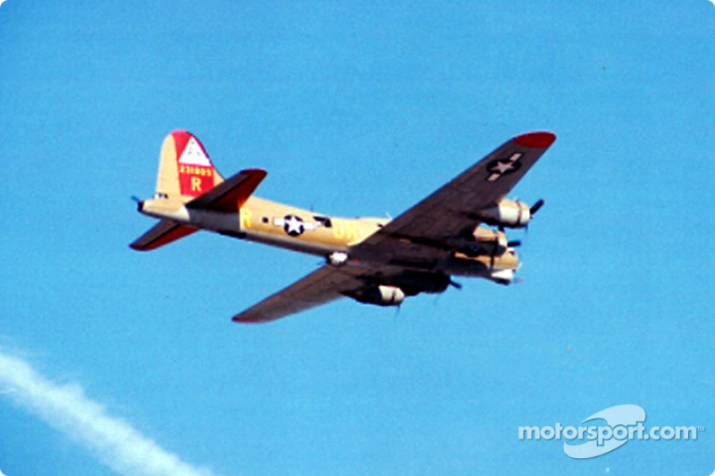 B-14 bomber fly-over