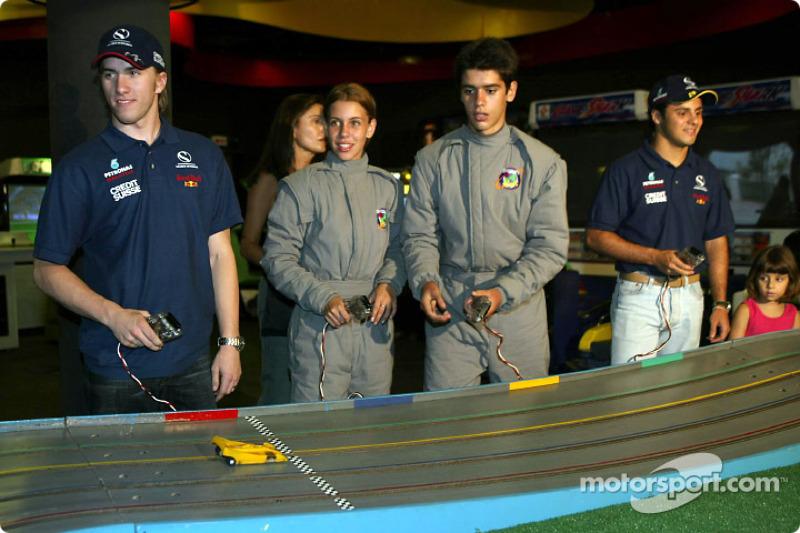 Visite à Hopi Hari´s Park: Nick Heidfeld et Felipe Massa