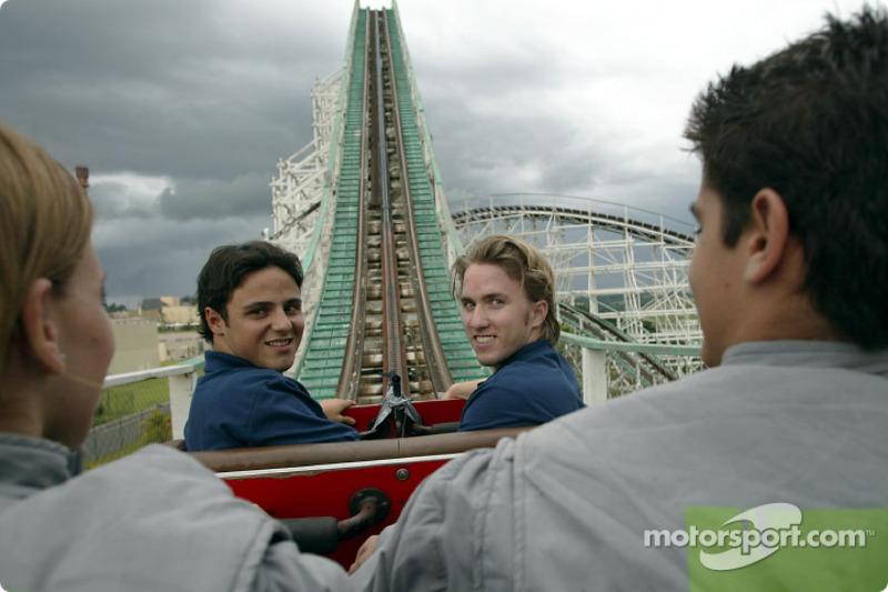 Visita al Hopi Hari Park: Felipe Massa y Nick Heidfeld