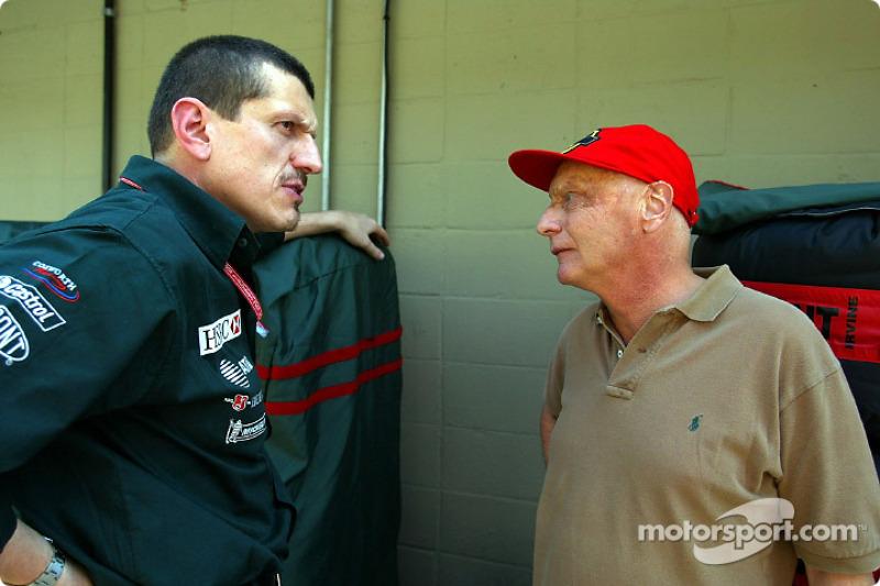 Guenther Steiner y Niki Lauda