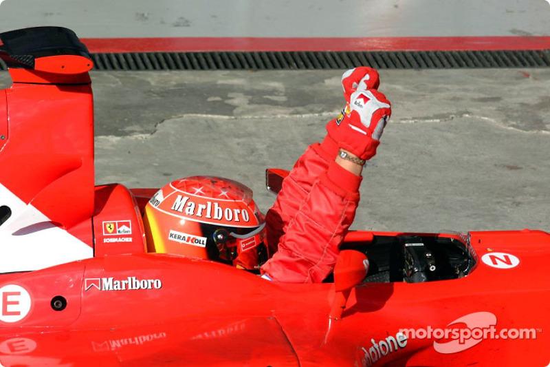 Race winner Michael Schumacher