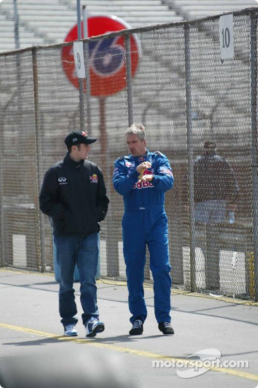 Tomas Scheckter and Eddie Cheever