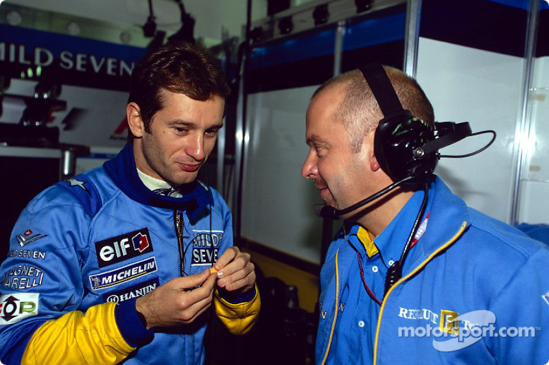 Jarno Trulli y Mike Gascoyne