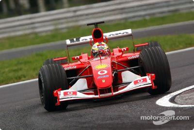 Essais de Ferrari en avril