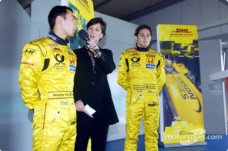 Team Jordan promotional event: Takuma Sato and Giancarlo Fisichella