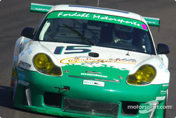 Randy Pobst led the GT class in the #15 Crazy Redhead Racing Porsche GT3 R during qualifying for the UnitedAuto 200 presented by azcentral.com until he was edged out by 0.006 seconds by Bill Auberlen in the #33 Ferrari