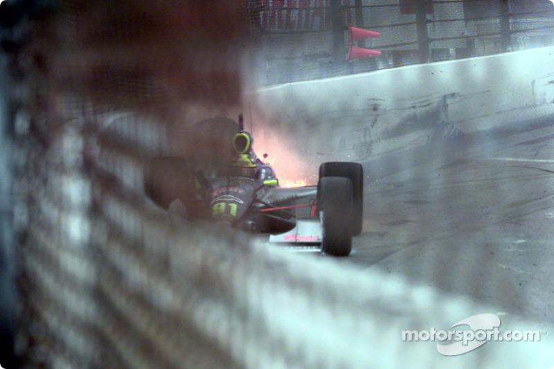 Buddy Lazier turn 3 accident
