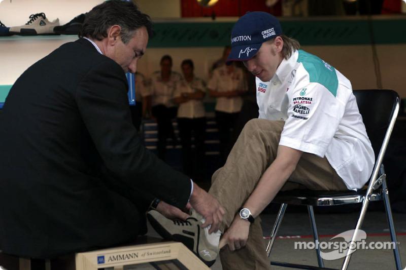Sociedad entre Sauber y Ammann de Suiza: Nick Heidfeld
