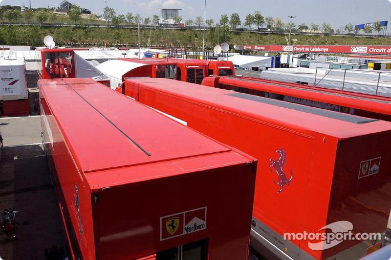 Una vista del paddock del Circuito de Catalunya