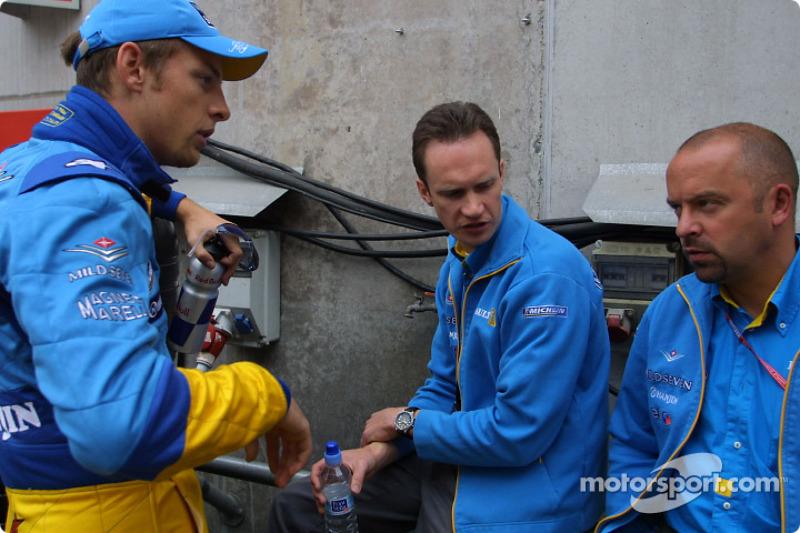 Jenson Button y Mike Gascoyne
