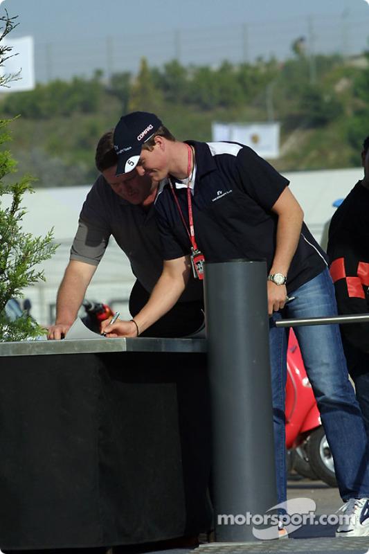 Ralf Schumacher llegando a la pista