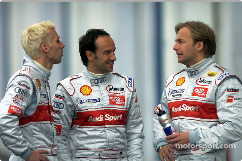 Audi team at Le Mans: Michael Krumm, Marco Werner and Philipp Peter
