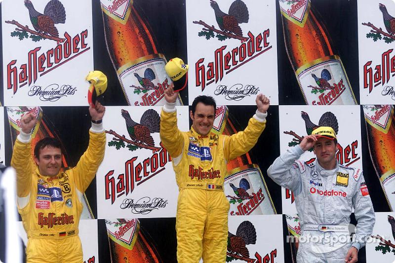 The podium: race winner Laurent Aiello, Christian Abt and Bernd Schneider