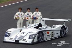 Audi Sport Japan Team Goh: Seiji Ara, Hiroki Katoh and Yannick Dalmas