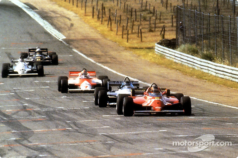 During 70 laps, they all tried to push Gilles Villeneuve at fault and pass him; they never could and