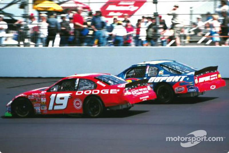 Jeremy Mayfield and Jeff Gordon
