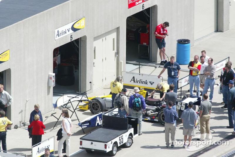 Treadway Racing garage area