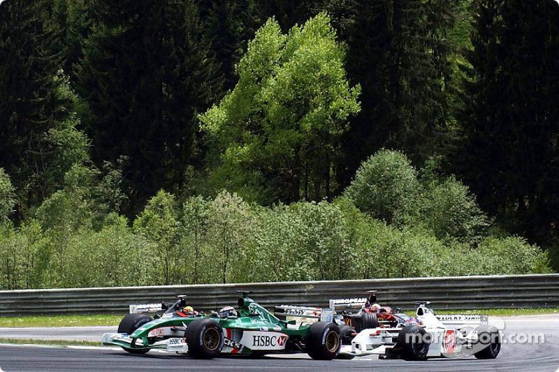 Eddie Irvine y Jacques Villeneuve