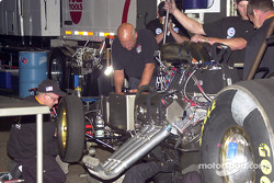 Gary Densham working on the car