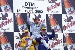 Race winner Jean Alesi with Christian Abt and Mattias Ekström on the podium
