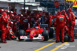 Pitstop for Rubens Barrichello
