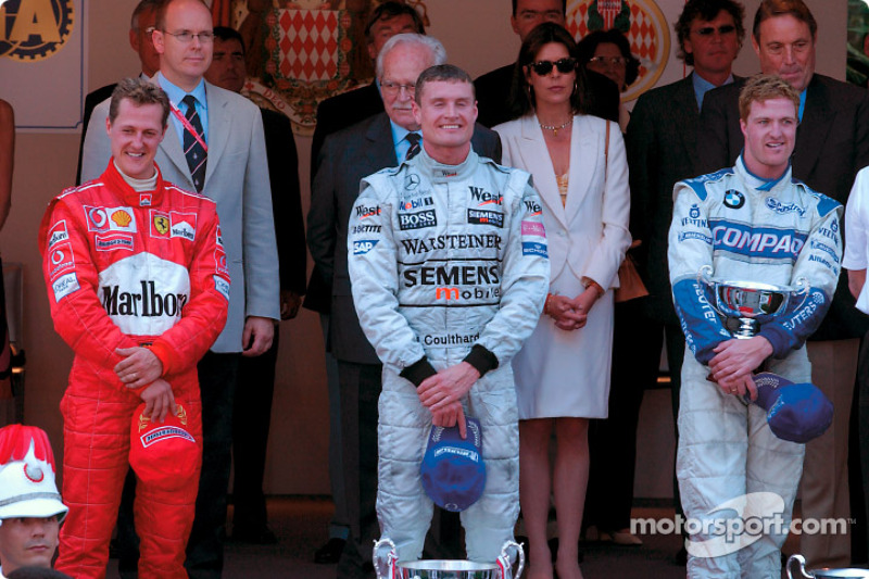 2002 - 1. David Coulthard, 2. Michael Schumacher, 3. Ralf Schumacher