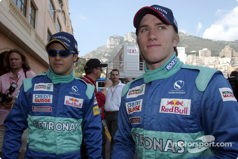 Felipe Massa et Nick Heidfeld