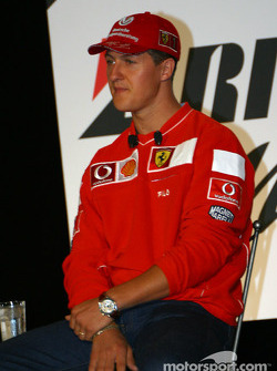 Bridgestone Motorsport / Scuderia Ferrari press conference: Michael Schumacher