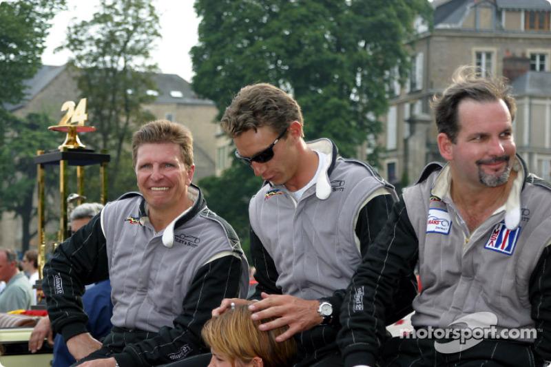 Didier Theys, Marc Goossens y Jim Matthews