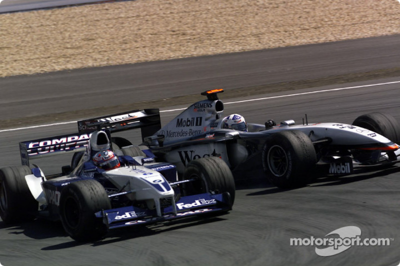 The Juan Pablo Montoya and David Coulthard accident