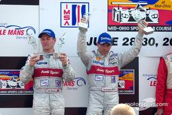 The podium: Tom Kristensen and Rinaldo Capello
