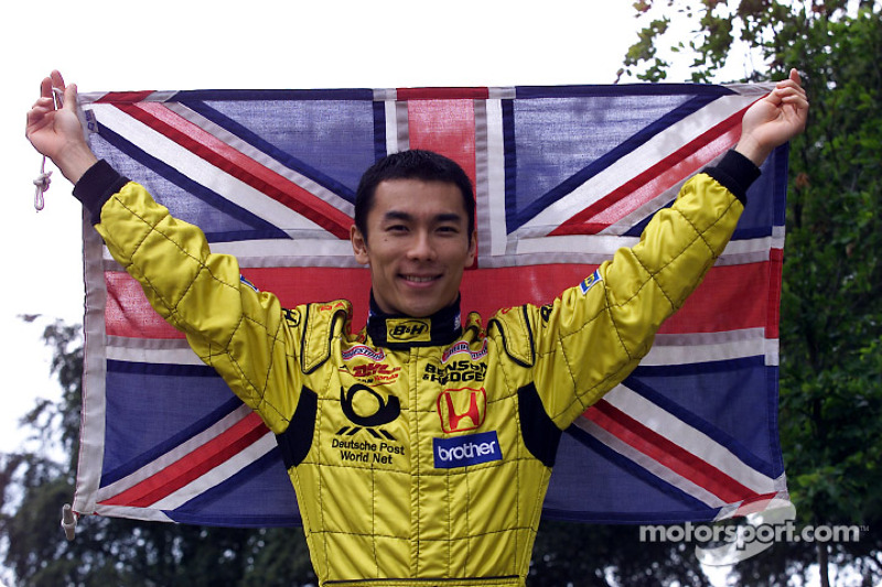 Takuma Sato with the Union Jack