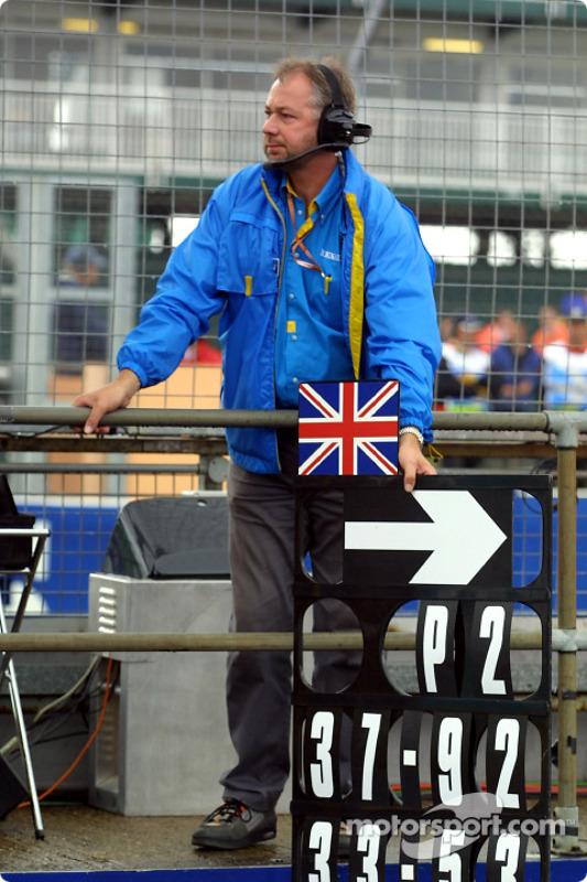 Renault F1 crew member