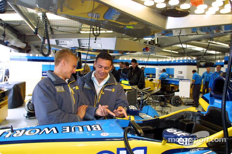 Renault Driver Development program drivers Heikki Kovalainen and Fabio Carbone