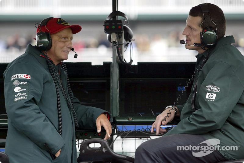 Niki Lauda y Guenther Steiner