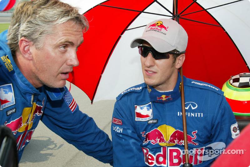 Eddie Cheever et Tomas Scheckter