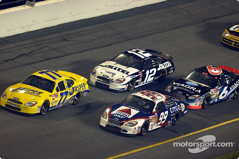 Dave Blaney, Jeff Burton, Ryan Newman y Mark Martin