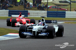 Juan Pablo Montoya and Michael Schumacher
