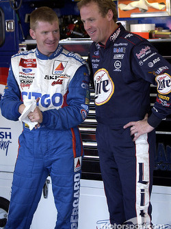 Jeff Burton and Rusty Wallace
