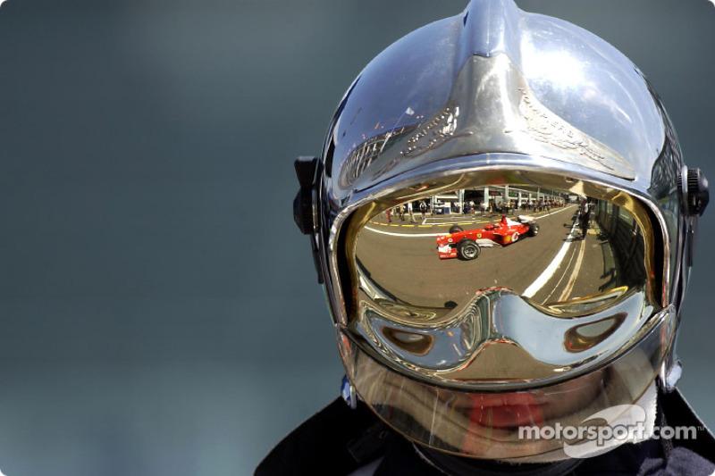 Reflection of Michael Schumacher