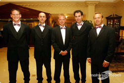 Stars and Stripes party in Washington: Gunnar Jeannette, David Brabham, Jan Magnussen, Bryan Herta and Bill Auberlen